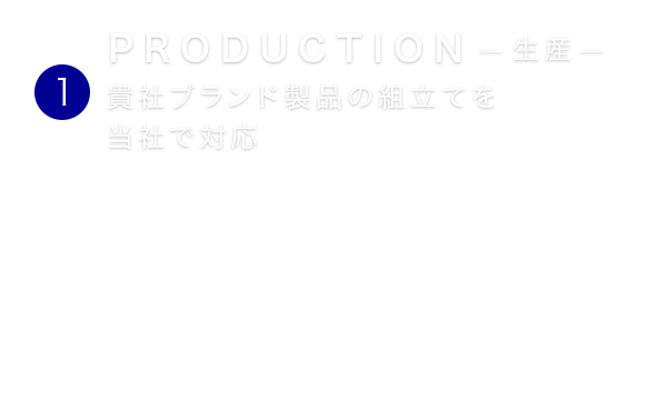 PRODUCTION  生産